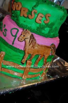 Homemade Horse Birthday Cake Design