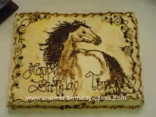 Homemade Horse Cake Design