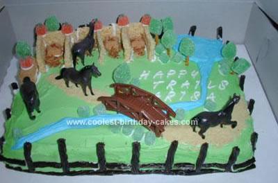 Homemade Horses Cake