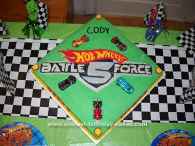 Lego Birthday Cake on Coolest Hot Wheels Battle Force 5 Birthday Cake 96