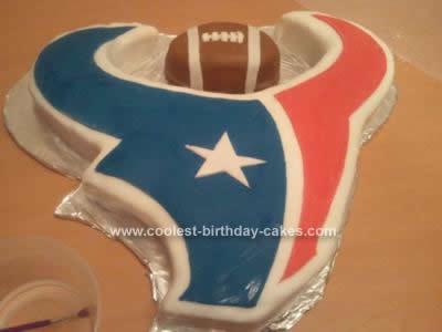 Homemade Houston Texans Football Cake Design