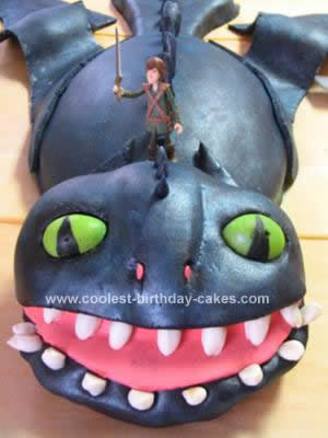 Homemade How To Train Your Dragon Birthday Cake