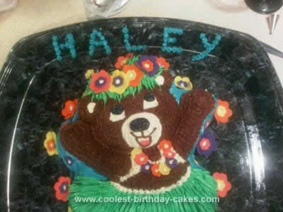 Homemade Hula Bear Cake Design