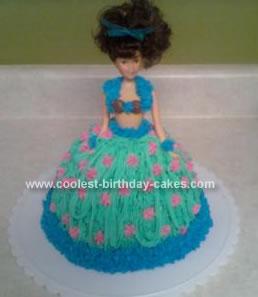 Homemade Hula Girl Cake
