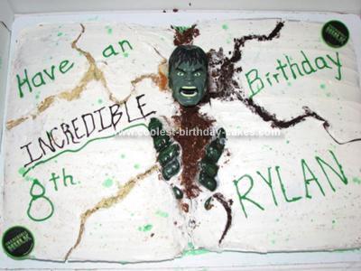 Homemade Hulk Cake