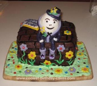 Homemade Humpty Dumpty Birthday Cake