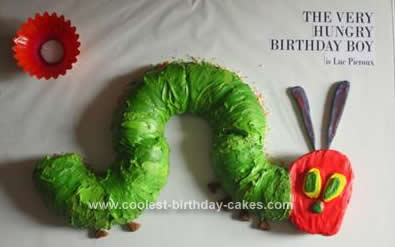 Homemade Hungry Caterpillar 1st Birthday Cake