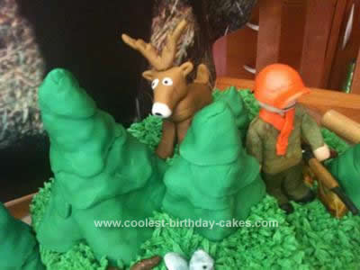 Homemade Hunting Party Birthday Cake