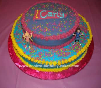 Homemade iCarly Birthday Cake