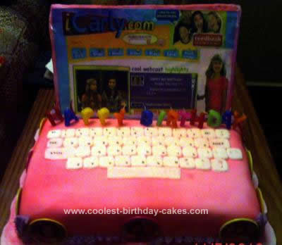 Kara's Cakes and Cupcakes: iCarly Birthday Cake!!!