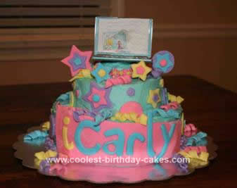 Homemade iCarly Web Cake