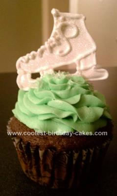 Homemade Ice Skate Cupcake
