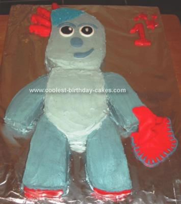 Homemade Iggle Piggle Birthday Cake