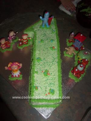 Homemade In the Night Garden First Birthday Cake