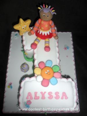 Homemade In The Night Garden Upsy Daisy no. 1 Birthday Cake
