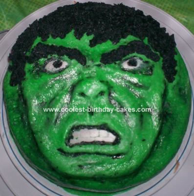 Hulk Cupcake Ideas http://www.coolest-birthday-cakes.com/coolest-incredible-hulk-cake-5.html