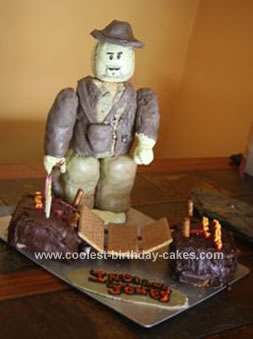 Homemade Indiana Jones Birthday Cake