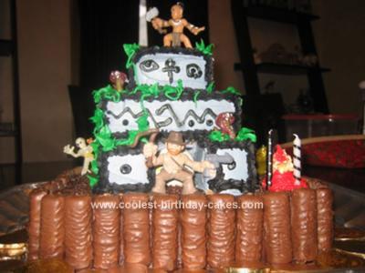 Homemade indiana Jones Temple of Doom Birthday Cake