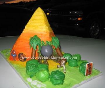 Homemade Indiana Jones Birthday Cake
