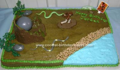 Homemade Indiana Jones on the Run Cake