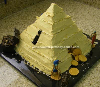 Homemade Indiana Jones Pyramid Cake