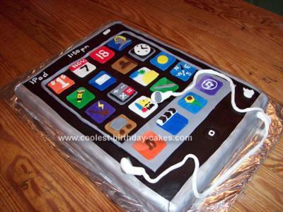 Homemade iPod Birthday Cake