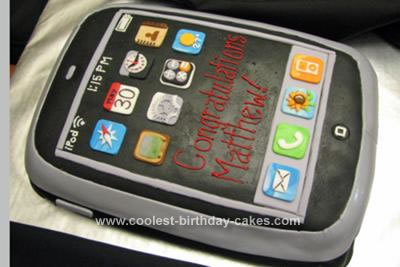 Homemade iPod Touch Cake