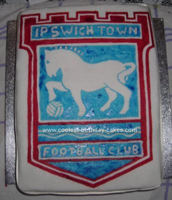 Homemade Ipswich Football  Cake