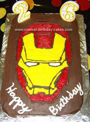 Homemade Iron Man Cake