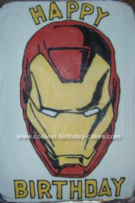 Iron  Coloring on Coolest Iron Man Birthday Cake Design 7