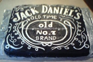Homemade Jack Daniels Birthday Cake