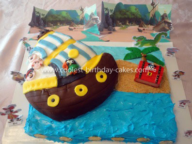Bucky Pirate Ship Cake Topper