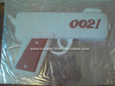 Homemade James Bond 21st Birthday Cake Idea