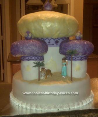 Homemade Jasmine's Arabian Castle Cake