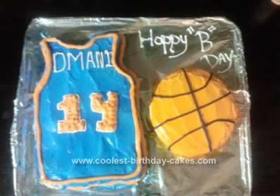 Homemade Jersey Basketball Cake
