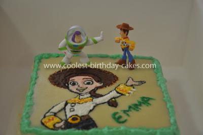 Homemade Jessie from Toy Story Cake