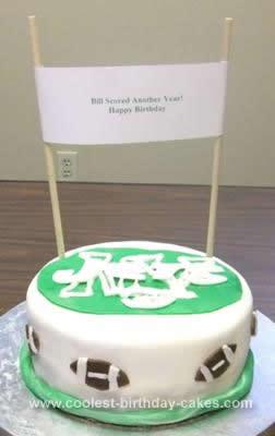 Homemade Jets Football Birthday Cake
