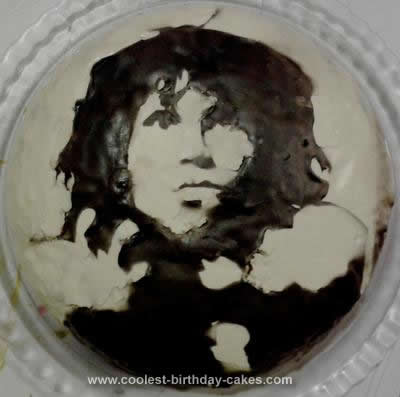 Homemade Jim Morrison Cake