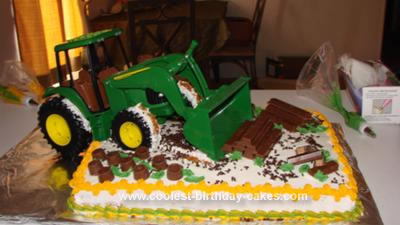 Homemade John Deere Clean Up Cake