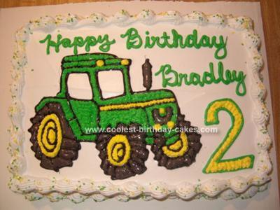 Homemade John Deere Tractor Birthday Cake