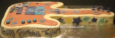 Homemade Jonas Brothers Guitar Cake