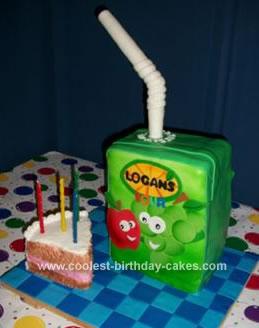 Homemade Juice Box Birthday Cake