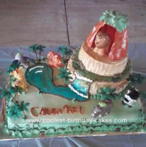 Homemade Jungle Animal Safari Cake