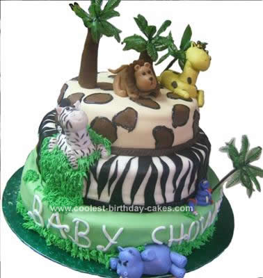 Coolest Jungle Baby Shower Cake 56