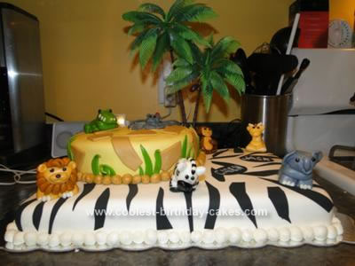 Homemade Jungle Safari Cake