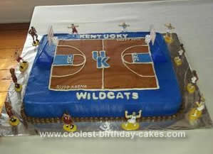 Basketball cakes 2 for Homemade basketball court