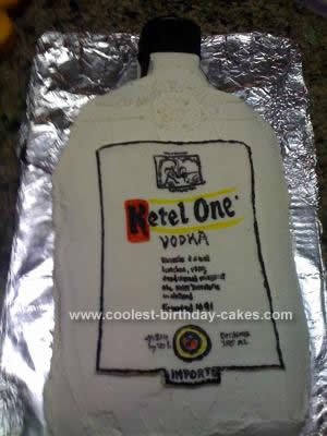 Homemade Ketel One Vodka Birthday Cake Design