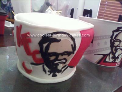 Homemade KFC Bucket of Chicken Cake