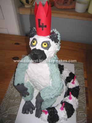 Coolest King Julian Lemur Cake