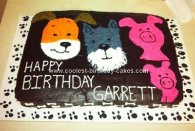Homemade Kipper the Dog 1st Birthday Cake